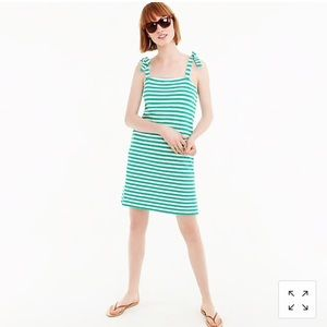 NWT JCrew striped tie shoulder dress sz. XS